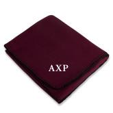 Maroon Arctic Fleece Blanket-AXP