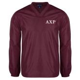 V Neck Maroon Raglan Windshirt-AXP
