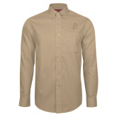 Red House Tan Long Sleeve Shirt-Labarum