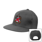 Charcoal Flat Bill Snapback Hat-Crest