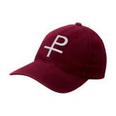 Maroon OttoFlex Unstructured Low Profile Hat-Labarum