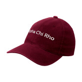 Maroon OttoFlex Unstructured Low Profile Hat-Alpha Chi Rho