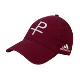 Adidas Maroon Slouch Unstructured Low Profile Hat-Labarum