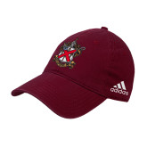 Adidas Maroon Slouch Unstructured Low Profile Hat-Crest