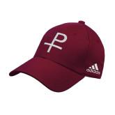 Adidas Maroon Structured Adjustable Hat-Labarum
