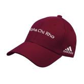 Adidas Maroon Structured Adjustable Hat-Alpha Chi Rho