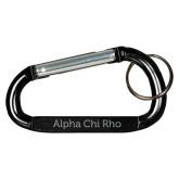 Black Carabiner with Split Ring-Alpha Chi Rho Engraved