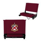 Stadium Chair Maroon-Crest