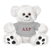 Plush Big Paw 8 1/2 inch White Bear w/Grey Shirt-AXP