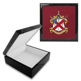 Ebony Black Accessory Box With 6 x 6 Tile-Crest