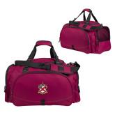 Challenger Team Maroon Sport Bag-Crest