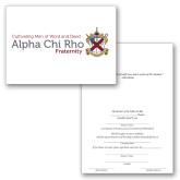 Personalized Folded Bid Card 7 x 5 w/Blank Envelope-