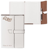 ACU Wildcat Fabrizio Junior White Portfolio w/Loop Closure-Angled ACU Engraved, Personalized
