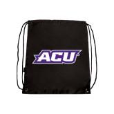 ACU Wildcat Black Drawstring Backpack-ACU
