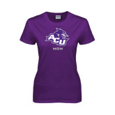 ACU Wildcat Ladies Purple T Shirt-Mom