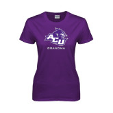 ACU Wildcat Ladies Purple T Shirt-Grandma