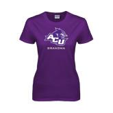 ACU Wildcat Ladies Purple T Shirt-Grandma