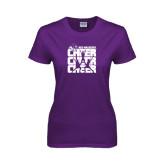 ACU Wildcat Ladies Purple T Shirt-Cheer, Cheer, Cheer
