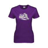 ACU Wildcat Ladies Purple T Shirt-Cross Country Shoe Design