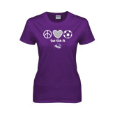 ACU Wildcat Ladies Purple T Shirt-Just Kick It Soccer Design