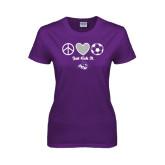 ACU Wildcat Ladies Purple T Shirt-Just Kick It Soccer Design