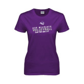 Ladies Purple T Shirt-Can You Dig It - Volleyball