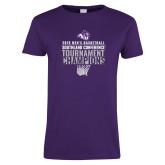 Ladies Purple T Shirt-2019 Mens Basketball Champions