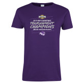 Ladies Purple T Shirt-2019 Southern Conference Mens Basketball Champions