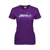 Ladies Purple T Shirt-Primary Logo