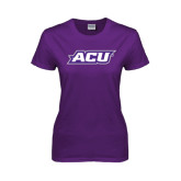 Ladies Purple T Shirt-ACU