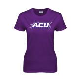 Ladies Purple T Shirt-ACU Wildcats