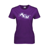 Ladies Purple T Shirt-Angled ACU