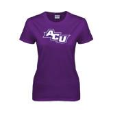 Ladies Purple T Shirt-Angled ACU