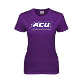 Ladies Purple T Shirt-Softball