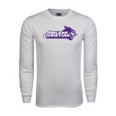 Abilene Christian White Long Sleeve T Shirt-Primary Logo