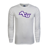 White Long Sleeve T Shirt-Angled ACU