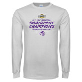 White Long Sleeve T Shirt-2019 Southern Conference Mens Basketball Champions