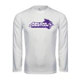 ACU Wildcat Syntrel Performance White Longsleeve Shirt-Primary Logo