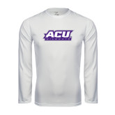 Performance White Longsleeve Shirt-ACU Wildcats