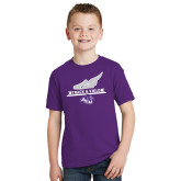ACU Wildcat Youth Purple T Shirt-Track and Field Side Shoe Design