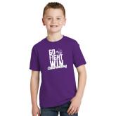 ACU Wildcat Youth Purple T Shirt-Go Fight Win