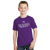 ACU Wildcat Youth Purple T Shirt-Can You Dig It - Volleyball