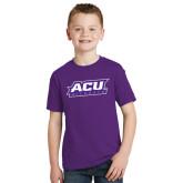 Youth Purple T Shirt-ACU Wildcats