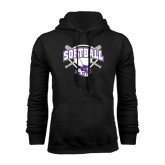 Black Fleece Hoodie-Softball Bats and Plate Design