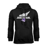 Black Fleece Hoodie-Track and Field Side Shoe Design