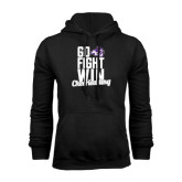 Black Fleece Hoodie-Go Fight Win