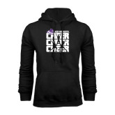 Black Fleece Hoodie-Cheer, Cheer, Cheer
