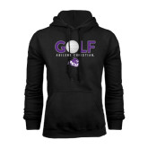 Black Fleece Hoodie-Golf Ball Design