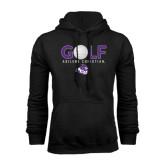 Black Fleece Hoodie-Golf Ball Design