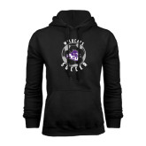 Black Fleece Hoodie-Soccer Ball Design